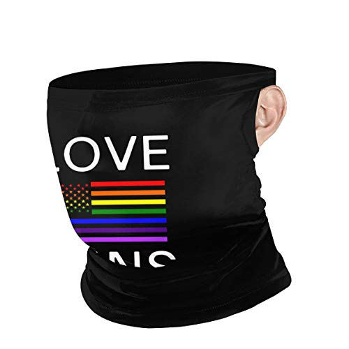 Lesbian Pride Shirts Gay Men & Women Ear Hanging Windproof Face Cover Windproof Neck for Snowboarding