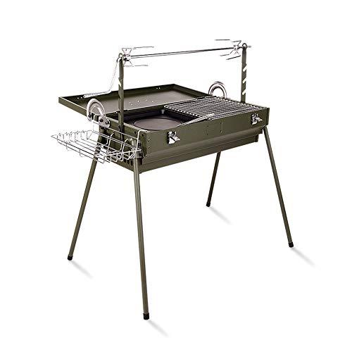 Grand BBQ Grill Etagère De Barbecue Multifonction Extérieure pour Barbecue À Charbon De Bois GW