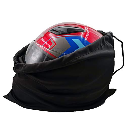 Motorcycle Helmet Bag Welding Mask Hood Storage carrying Bag for Riding Bicycle Sports Universal Tool Made of Nylon Cloth with Locking Drawstring (Black 1pcs)