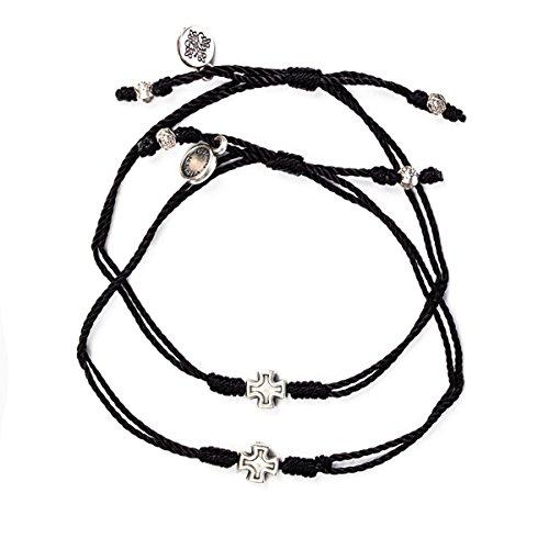 My Saint My Hero Prayer Partner Bracelet Set (Black)