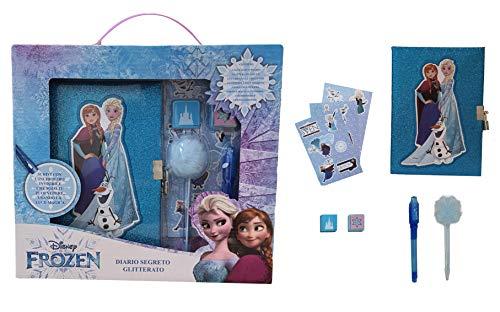 M.C. srl DIARIO Segreto Glitter con Lucchetto Frozen Elsa Disney + Accessori in Confezione Regalo - FR0715