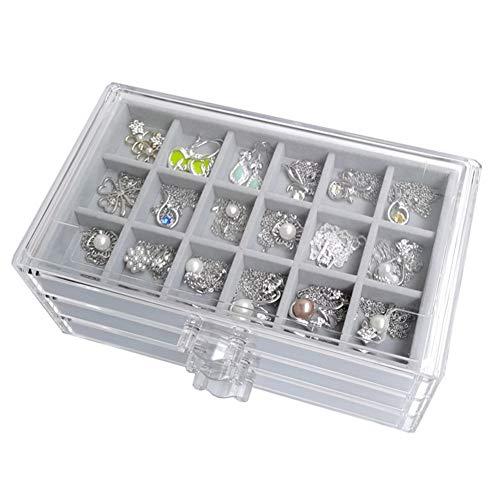 Shulishishop Joyero para Collares Organizador Joyas Gran Caja de joyería Personalizado Cajas de la joyería Pequeña Caja de joyería Cajas de baratijas para Mujer