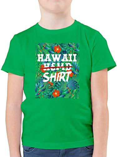 Karneval & Fasching Kinder - Hawaii Hemd Shirt - 164 (14/15 Jahre) - Grün - Hemd grün 152 - F130K - Kinder Tshirts und T-Shirt für Jungen