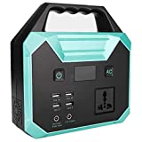 QTCD Portable Power Station 40800mAh Outdoors Camping Power Supply Solar Generator Portable Emergency Backup Battery Pack with LED Flashlight for Travel Adventure Home Outage