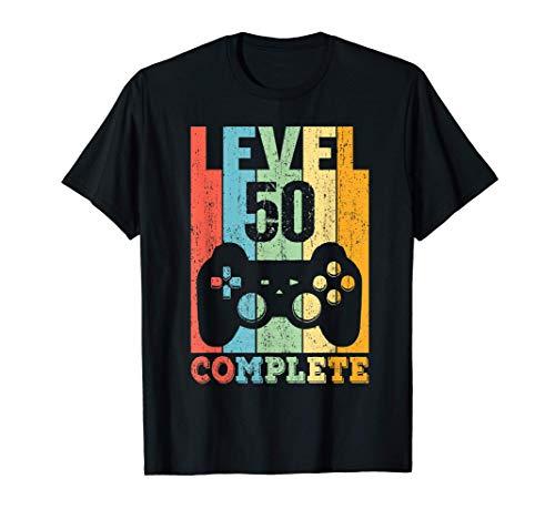 50 Años Cumpleaños Hombre Mujer Regalo Divertido Level 50 Camiseta