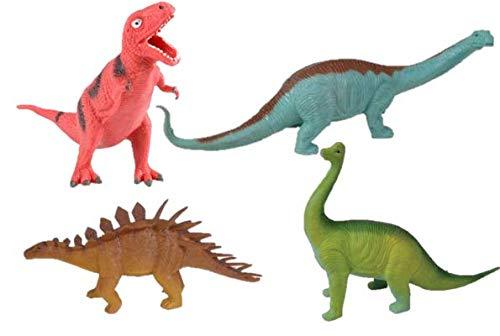 M&E 4 Fun 8 Squishy Guttzie Buddy Dinosaurs! Apatosaurus Brachiosaurus T-Rex & Stegosaurus- Party Favors Prizes Holiday Stuffers (1 of Each)