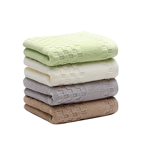 NAFE La Toalla de Mano Toalla de Cara Set, 100% algodón, Colores Surtidos Mano Toallas de baño, Tamaño 29 X 12,5, 4-Pack 4 Colores