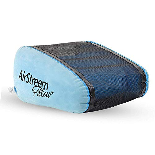 Airstreem Inflatable Pillow – Inflatable Pool Pillow and Sunbathing Pillow That Circulates Air For Cool Comfort – Portable, Lightweight, Inflates Easily – Ideal for the Pool, Camping, Beach