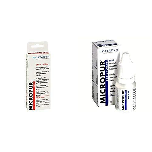 Micropur Forte MF 1T - 100 (4x25) Tabletten & Antichlor MA 100F Wasseraufbereitung, 10 ml