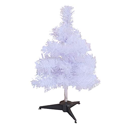 SJH Mini White Christmas Tree - PVC Material,encrypted And Widened,artificial Christmas Tree,houseware With Bracket (1ft) table Decoration,office,school