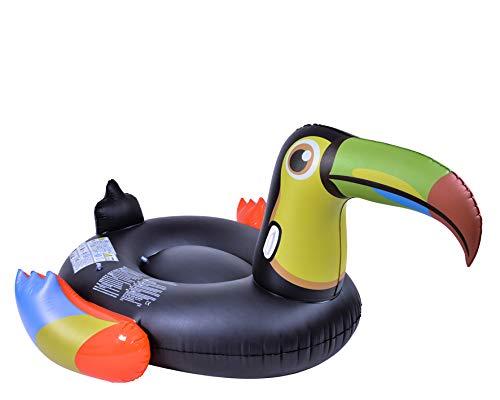 GLOBO, Jumbo Toucan Flotante 208x156x100cm Brazaletes y flotadores Natación y Waterpolo Unisex Infantil, Color, única (37429)