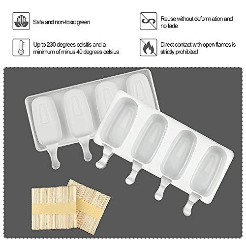 N\C 8 piezas de silicona helado molde de jugo paletas fabricante niños molde Lollipop cocina accesorios