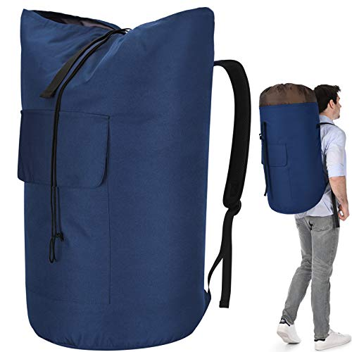 Laundry Bag Backpack Extra Large, 115L Laundry Backpack with Padded Shoulder Strap, Sturdy Travel Laundry Bag, Hanging laundry bag for College Dorm, Apartment, Durable Laundry Backpack Bag for Student