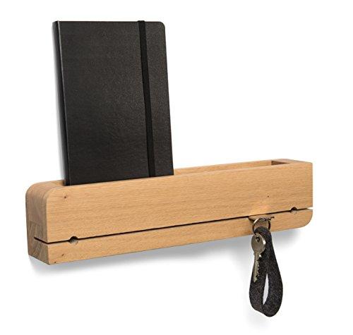 Natuhr Schlüsselbrett Ablage Holz Eiche Schlüsselhalter Schlüsselleiste (Eiche)