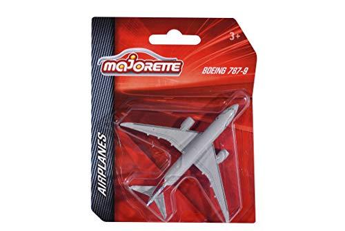 Majorette 212057980 Airplane, Flugzeug mit Original Lizenz, Emirates, Lufthansa, Airbus, Boeing, American Airlines, Spielflugzeug, 5 versch. Modelle, Lieferung: 1 Stück, zufällige Auswahl, Länge 11 cm
