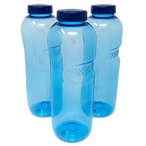 SAXONICA Trinkflasche aus Tritan 3 x 0,75 Liter ohne Weichmacher BPA frei (Bisphenol A frei) für Wasser, Milch oder Saft