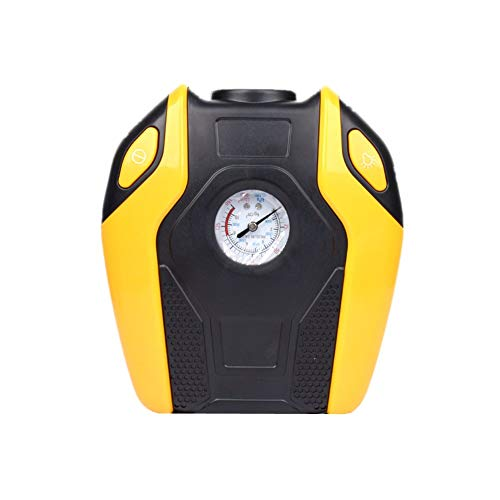 Compresor Coche Hinchador Electrico Inflador Digital de neumáticos Herramienta de aire Inflador de neumáticos Inflador de neumáticos con manómetro Yellow Machinery,One Size
