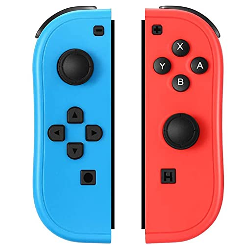 SogYupk Joy-Pad Controller Compatible with Switch Joycon,Switch Gamepad with Dual Vibration Motor Gyroscope, with Strap and Support Wake-up Function(Blue and Red)