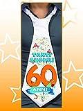 Dor CRAVATTONE 60 Anni - Cravatta Gadget Idea Regalo Festa 60° Compleanno Uomo