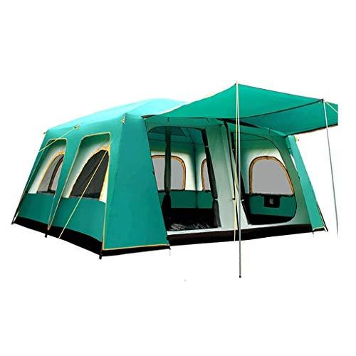 YDHWY Tenda Antivento all'aperto Tenda da Campeggio Tenda Esterna Gonfiabile 12people Due Camera Una Sala Extralarge Tenda Adatta for Il Campeggio