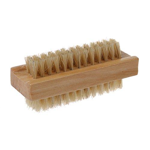 SODIAL Wooden Brosse De Bain à Ongles à RéCurer Pour Manucure PéDicure En Nylon à PoignéE Double Face