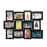 BERELA, COLME 12 - Marco de Fotos Múltiple para 12 Fotografías, 10x15 cm, Collage de Fotos para Pared, Negro