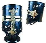Casco de armadura medieval Templar Crusader Knight | Casco griego romano espartano de latón negro con soporte