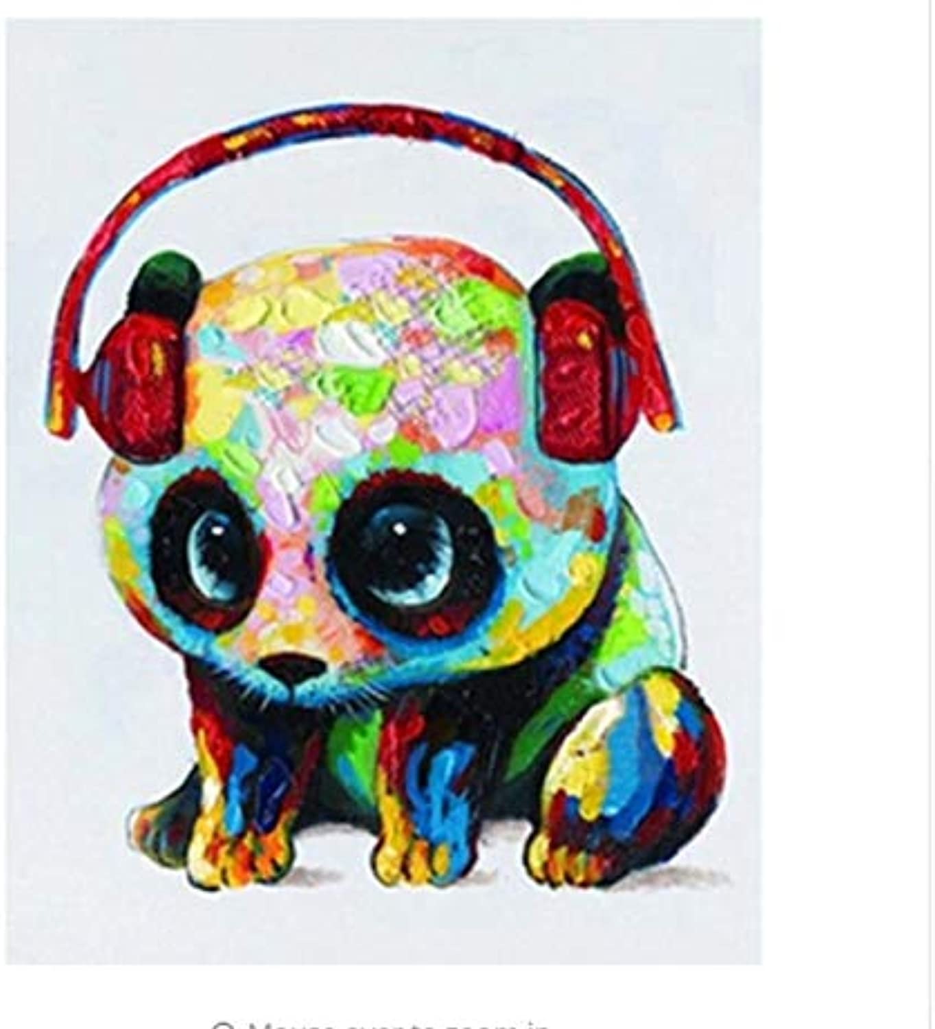 LIWEIXKY colorful Animals DIY Painting By Numbers Modern Home Wall Art Picture Unique Gift For Home Decoration  Framed  50x60cm