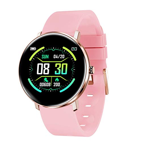 Chenang Smartwatch, Bluetooth Smart Watch Fitness Tracker Bracelet Sport Watch Heart Rate Monitor Pedometer Sleep Monitor with IP68 Waterproof Swimming Blood Pressure Monitor for iOS Android