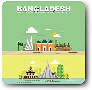 Giftcart Souvenir Bangladesh Fridge Magnet 3.5 x 3.5 Inch Multicolor