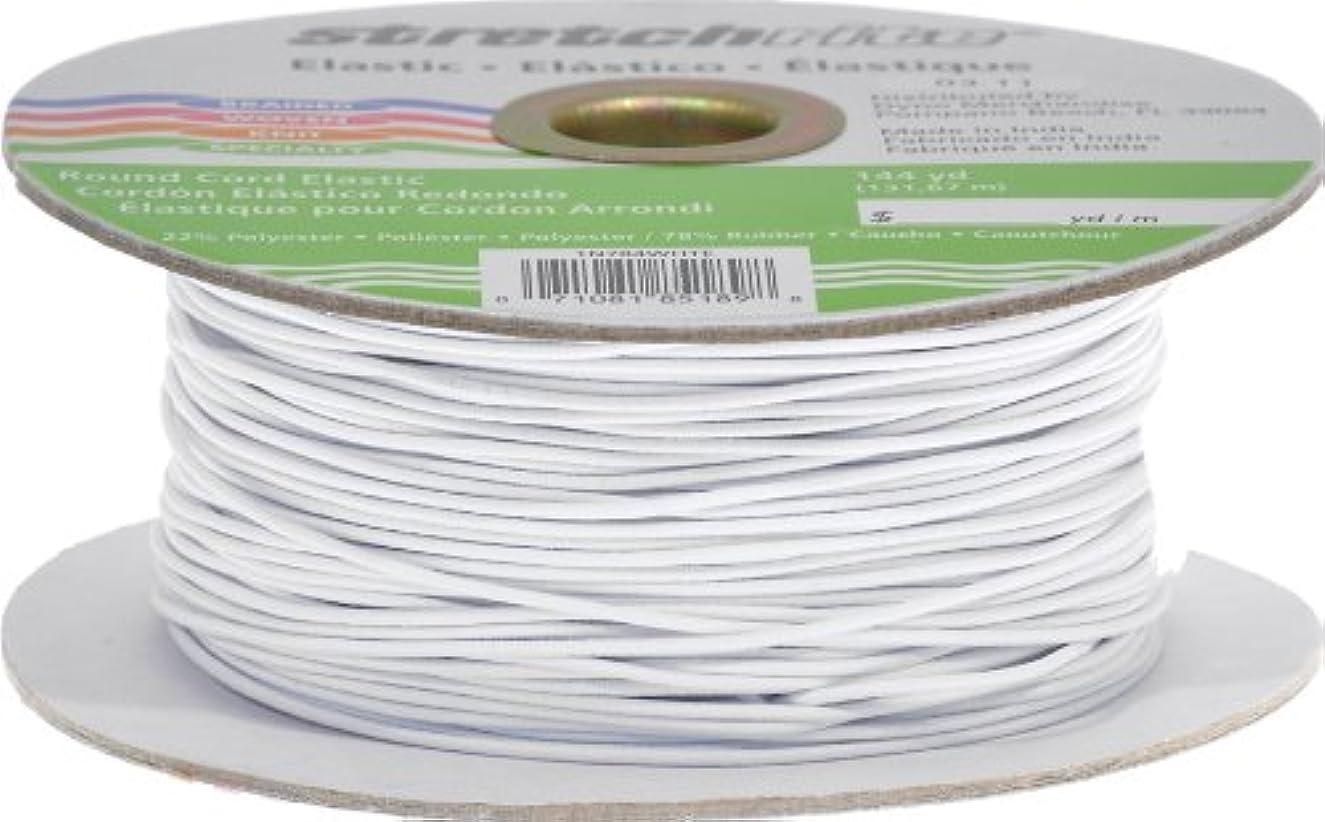 Stretchrite 1N784WHTE Stretchrite 144-Yard White Round Elastic Cord Spool