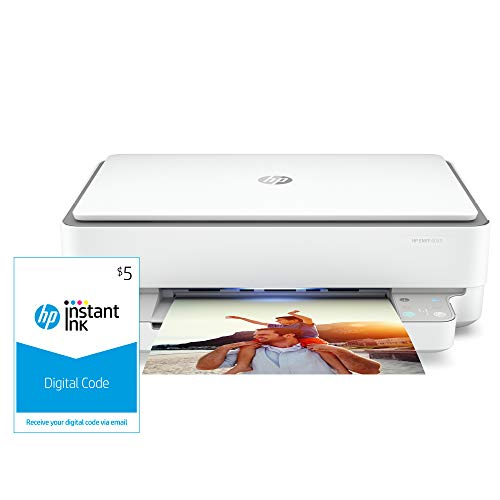 HP Envy 6055 Wireless All-in-One Printer and Instant Ink $5 Prepaid Code
