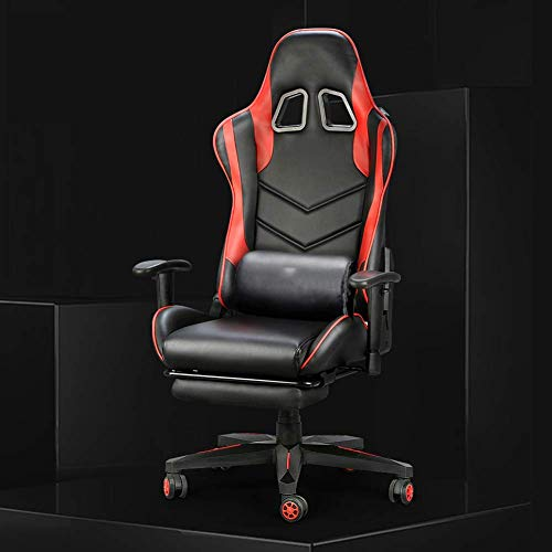 WXDP Selbstfahrender Rollstuhl, Gaming-Stuhl, verstellbarer Computer-Bürostuhl mit Fußstütze, ergonomischer Racing-Stuhl, Schreibtischstuhl, Ankerstuhl, Chefsessel, Gra