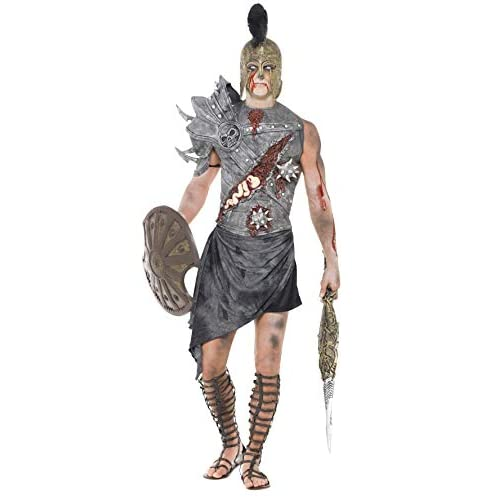 SMIFFYS Costume Carnevale Halloween Gladiatore Soldato Romano Zombie - uomo