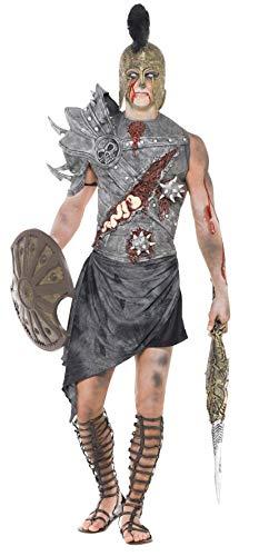 Smiffy's - Disfraz de gladiador zombi para hombre, talla L (32886L)