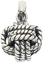 Wild Things Stainless Steel Monkey's Fist Knot Pendant