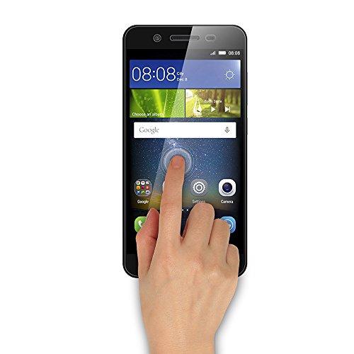 AICEK [2 Pack] Huawei P8 Lite Smart Schutzfolie, Touch Kompatibel Huawei P8 Lite Smart 5,0 Zoll Displayschutzfolie Panzerglas Displayschutz Screen Protector 9H Hardness Gehärtetem Glas - 2