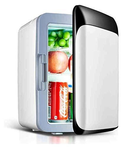 SHUHANG Mini Coche Refrigerador y Estufa Compact Compact Portable y Tranquilidad Compatibilidad para automóviles y Camiones (Color : White, Size : 25x26x34cm)