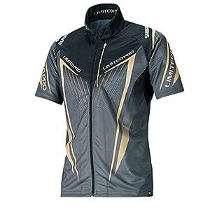 シマノ(SHIMANO) フルジップシャツ リミテッドプロ (半袖) SH-012S ブラック M