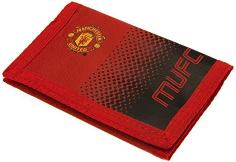 Manchester United FC Touch Fastening Fade Design Nylon Wallet One Size Red Black product image