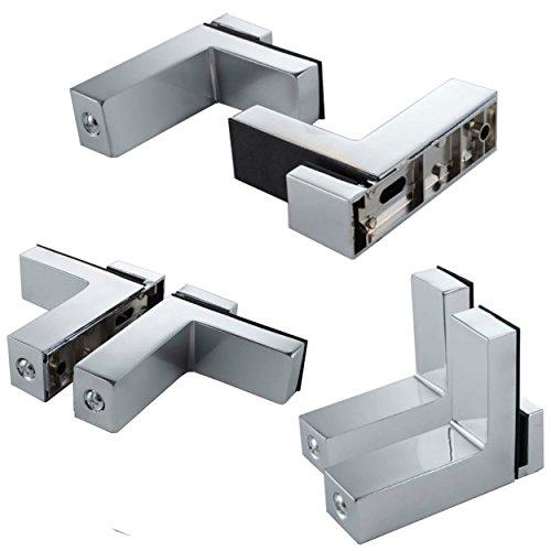 Euro Tische Regal-Halter Glasbodenträger - Stabile Regalträger für Glas- und Holzböden - Verschiedene Varianten (2 Stück)
