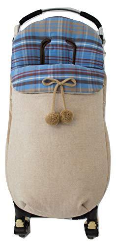 Sac housse universelle pour poussette ou landau. C'est disponible en plusieurs modèles et couleurs (London Camel)