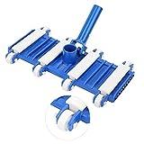 smallrun Cepillo Flexible para Piscina Limpiafondos Flexible, contrapeso de Acero Cepillo De Vacío para Piscina, Cabezal De Vacío De Alta Resistencia para Piscina(33X20X10CM)