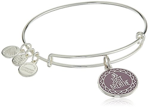 Alex and Ani Words are Poweful Just Breathe Bangle Bracelet