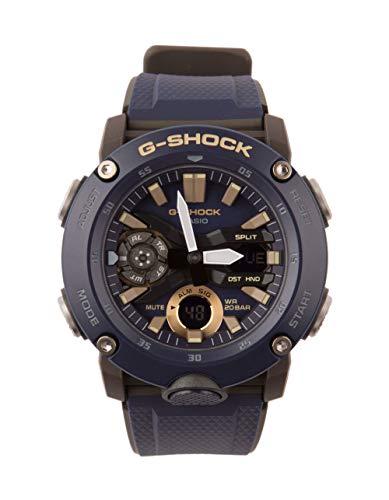 Men's Casio G-Shock Analog-Digital Carbon Core Guard Navy Resin Band Watch GA2000-2A