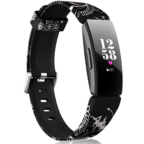 Maledan Replacement Bands Compatible with Fitbit Inspire HR/Inspire/Fitbit Inspire 2 and Fitbit Ace 2, Flower Fairy, Small