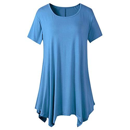 Kolila Damen Oberteile Flowy Bluse Swing Tunika Tops Lose Fit Bequeme Frauen Beiläufige Kurzarm T Shirt T-Shirts