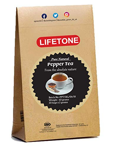 lifetone the tea for better life, Black Pepper Tea   20 Teabags   Help Loosing Belly Fat   Tea for Digestion