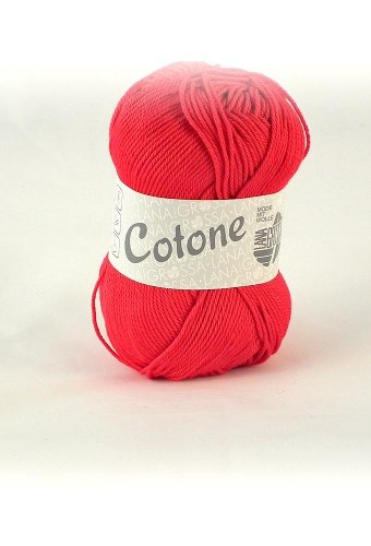 Lana Grossa Cotone 018 rot 50g Wolle