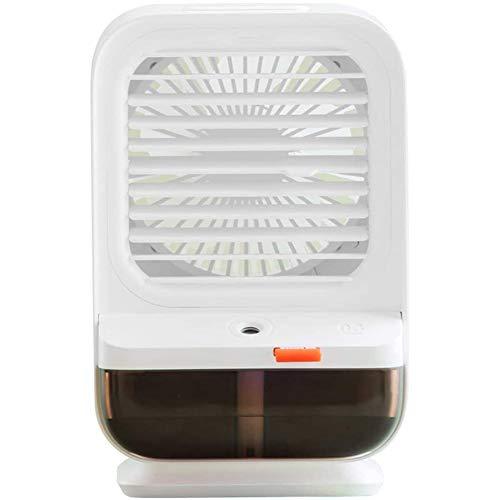 WEDSFC Ventilador de Aire Acondicionado portátil,3 en 1 refrigerador de Aire/humidificador/purificador, Cabeza de agitación de ángulo Ancho de 90 °, 3 velocidades,para el hogar y la Oficina,Blanco